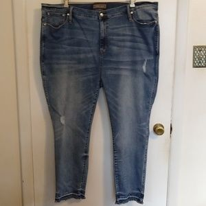 Point Sur Raw Hem Hightower Straight Jeans 37 Plus